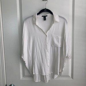 Dolman Sleeve Button Up